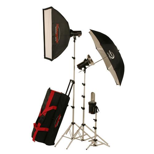 Photogenic AKC990BRK 960W/s Portrait Studio 3 Light Soft Box Kit with Radio (AC/DC)