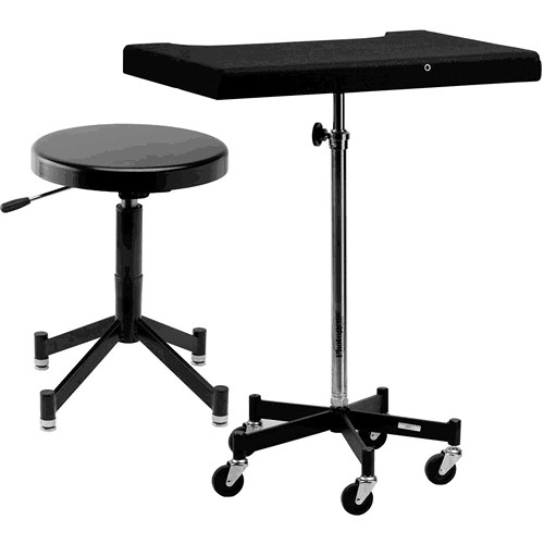 Photogenic Tony Posing Table and Stool with Gliders or Casters