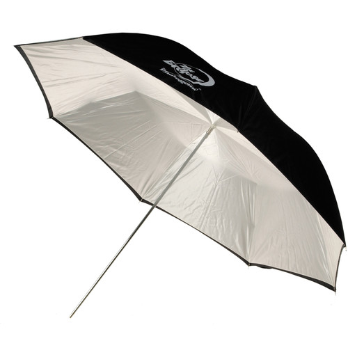 "Photogenic Umbrella - ""Eclipse"" White, Black Cover - 32"""
