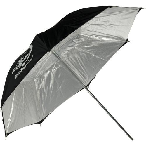 """Photogenic Umbrella - """"Eclipse"""" Silver, Black Cover - 32"""""""