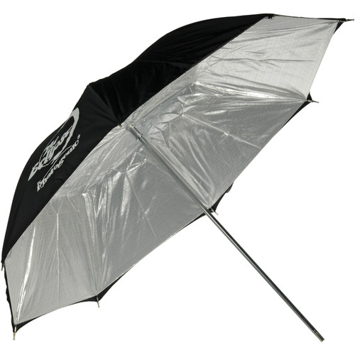 "Photogenic Umbrella - ""Eclipse"" Silver, Black Cover - 45"""