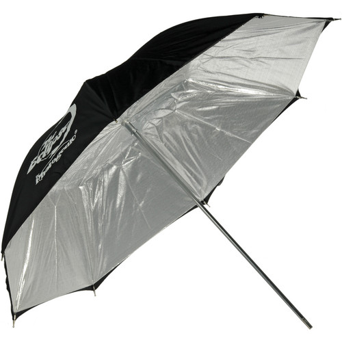 "Photogenic Umbrella - ""Eclipse"" Silver, Black Cover - 60"""