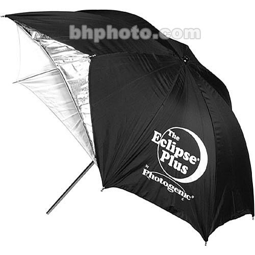 "Photogenic 60"" Eclipse Plus Umbrella (White with Silver Lining)"