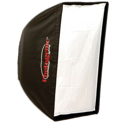 "Photogenic 24 x 32"" Rectangular Softbox, Silver Interior, Mount Ring"