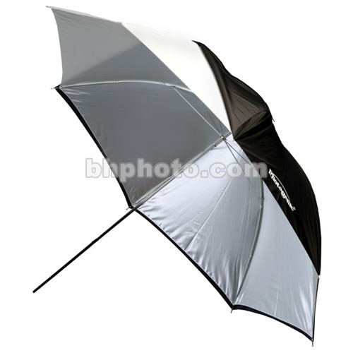 Photogenic Umbrella with Removable Black Cover - White - 32""