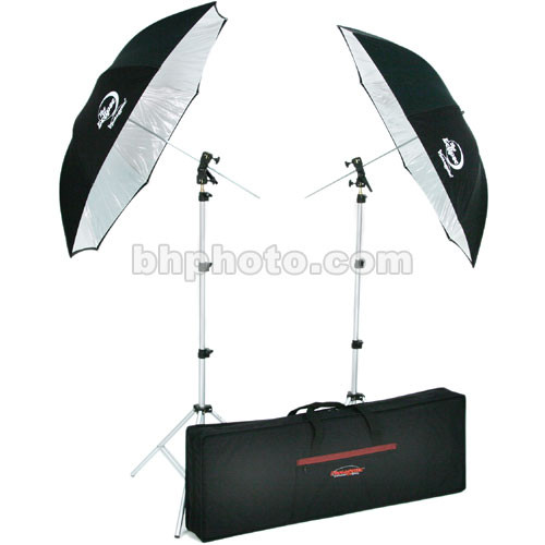Photogenic Two Umbrella and Stand Kit