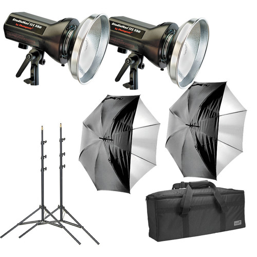 Photogenic - StudioMax III 2-Light Basic Studio Kit (120V AC)
