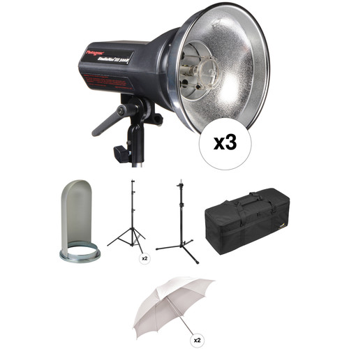 Photogenic StudioMax III Pro 3 Light Kit (120VAC/12VDC)
