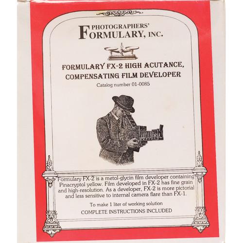 Photographers' Formulary FX-2 High Acutance Film Developer - Makes 2.5 Gallons