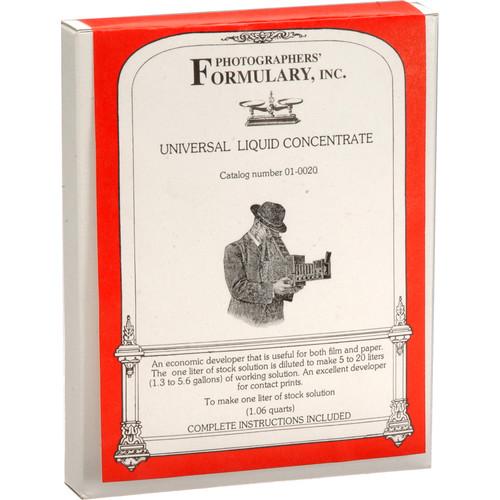 Photographers' Formulary Universal Developer for Black & White Film & Paper- 1 Liter/Makes 5 to 20 Liters