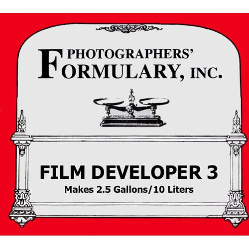 Photographers' Formulary #3 Developer for Black & White Film - Makes 2.5 Gallons