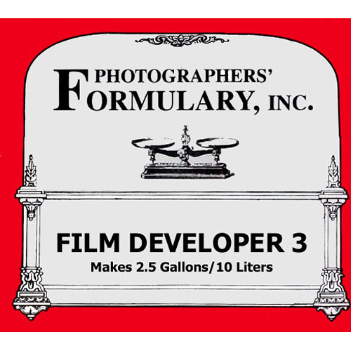 Photographers' Formulary #3 Developer for Black & White Film - Makes 2.5 Gallons