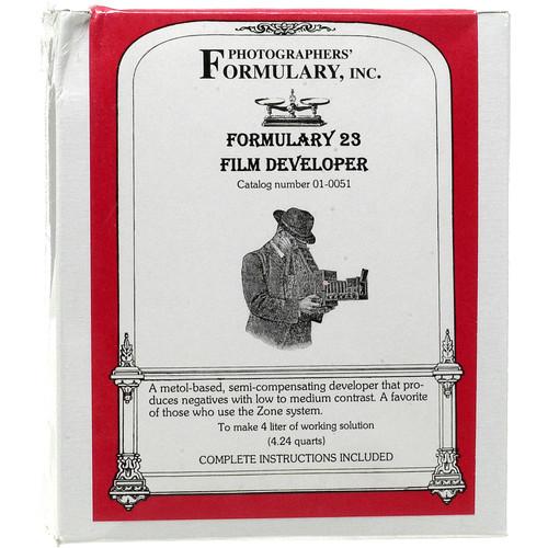 Photographers' Formulary #23 Developer for Black & White Film - Makes 4 Liters
