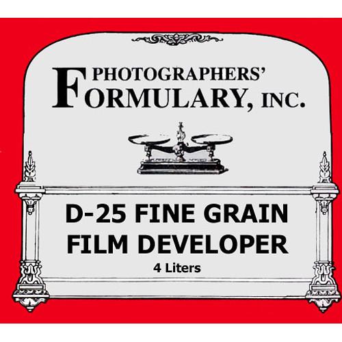 Photographers' Formulary D-25 Developer for Black & White Film - Makes 4 Liters