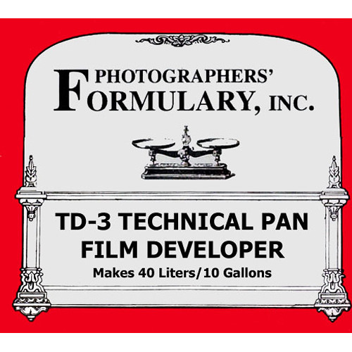 Photographers' Formulary TD-3 Developer for Black & White Tech Pan Film (Liquid) - Makes 10 Gallons/40 Liters
