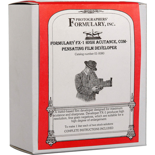 Photographers' Formulary FX-1 Developer for Black & White Film - Makes 2.5 Gallons