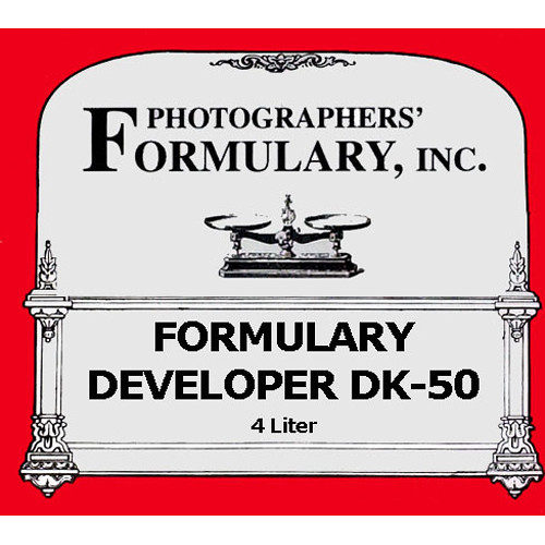 Photographers' Formulary Formulary Developer DK-50 - Makes 4 Liters (1 gal)
