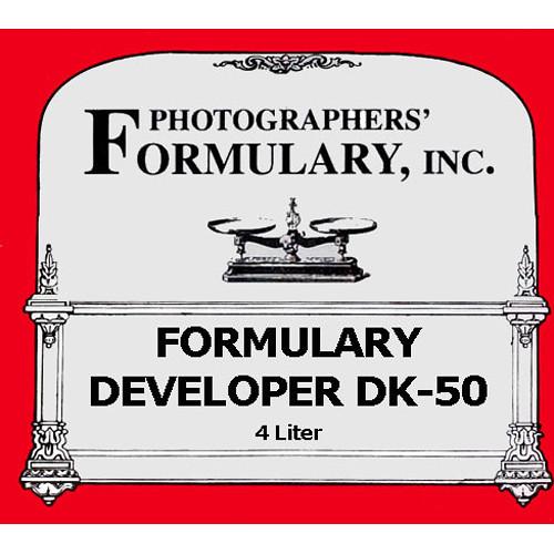 Photographers' Formulary Formulary Developer DK-50 - Makes 4 Liters (1 gal)