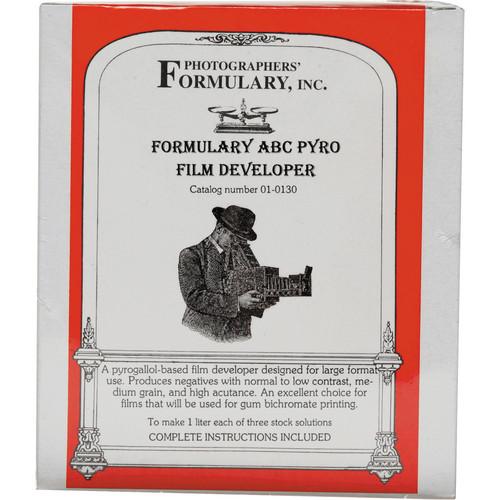 Photographers' Formulary ABC Pyro Developer for Black & White Film - Makes 2.5 Gallons/10 Liters