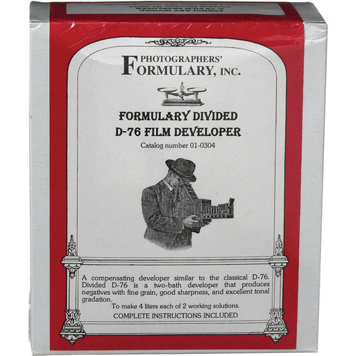 Photographers' Formulary Divided D-76 Developer for Black & White Film