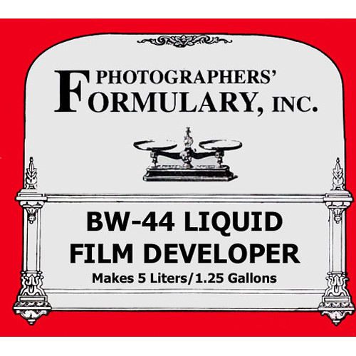 Photographers' Formulary BW-44 Developer for Black & White Film (Liquid) - Makes 1.25 Gallons/5 Liters