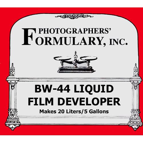 Photographers' Formulary BW-44 Developer for Black & White Film (Liquid) - Makes 5 Gallons/20 Liter