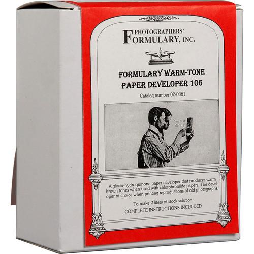 Photographers' Formulary 106 Developer for Black & White Paper