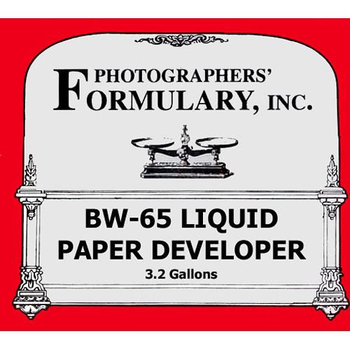 Photographers' Formulary BW-65 Developer for Black & White Paper (Liquid) - Makes 3.2-6.4 Gallons/12-24 Liters