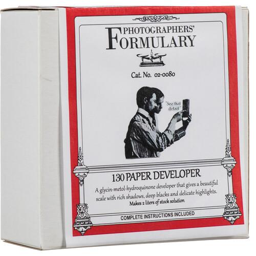 Photographers' Formulary 130 Developer for Black & White Paper (Makes 2 Liters)
