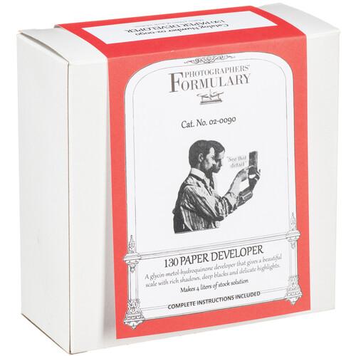 Photographers' Formulary 130 Developer for Black & White Paper (to Make 4 Liters)