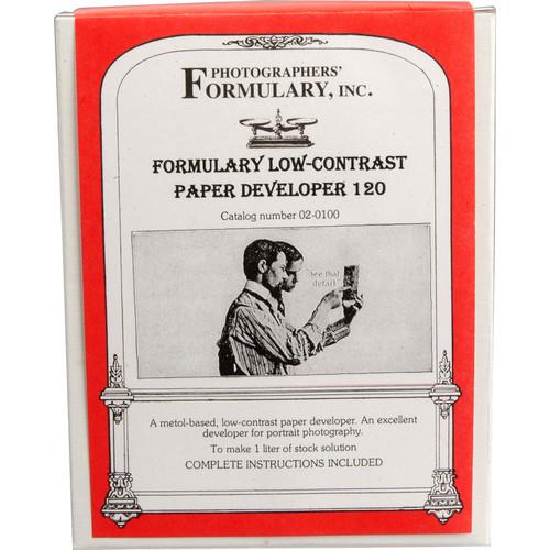 Photographers' Formulary 120 Developer for Black & White Paper - Makes 3 Liters