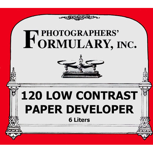 Photographers' Formulary 120 Low-Contrast Developer for Black & White Paper - Makes 6 Liters