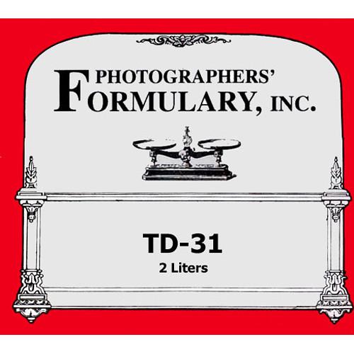 Photographers' Formulary TD-31 Developer for Black & White Paper - Makes 2 Liters