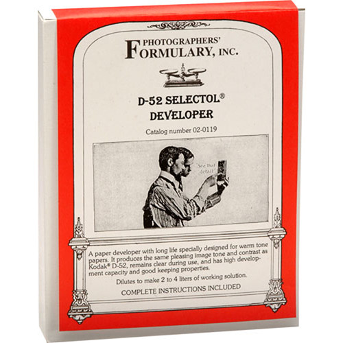 Photographers' Formulary D-52 Selectol Developer for Black & White Paper - Makes 2-4 Liters