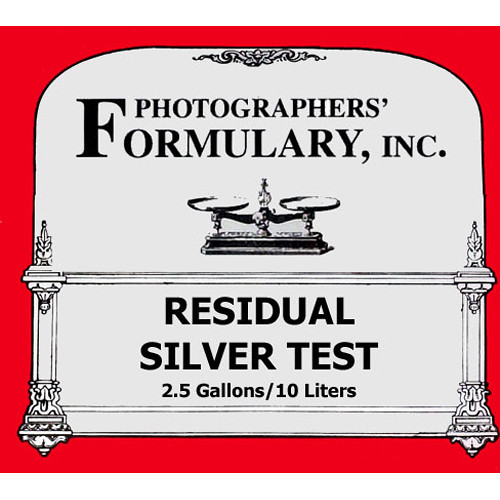 Photographers' Formulary Residual Silver Test - 2.5 Gallons/10 Liters