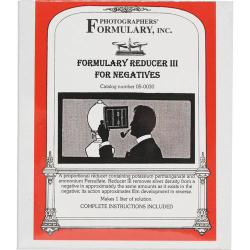 Photographers' Formulary Reducer III for Black & White Film - 3 Liter