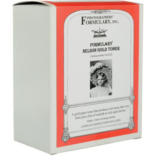 Photographers' Formulary Toner for Black & White Prints - Nelson Gold/ Makes 1 Liter