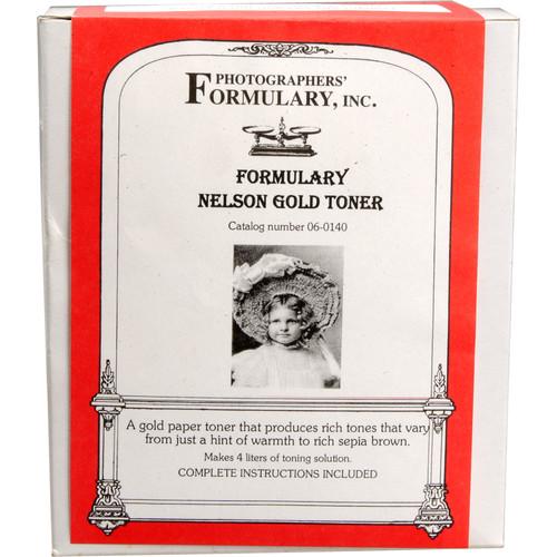 Photographers' Formulary Toner for Black & White Prints - Nelson Gold/ Makes 4 Liters