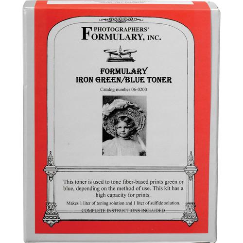 Photographers' Formulary Toner for Black & White Prints - Iron Green-Blue/ Makes 1 Liter