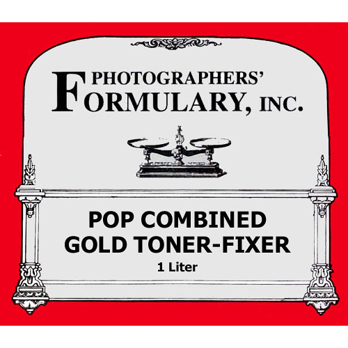 Photographers' Formulary Toner-Fixer (Printing-Out-Paper) for Black & White Prints - Pop-Gold/ Makes 1 Liter