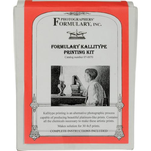 "Photographers' Formulary Kallitype Printing Kit - Makes 30 4x5"" Prints"