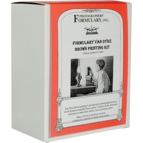 "Photographers' Formulary Van Dyke Brown Printing Kit - Makes 100 4x5"" Prints"