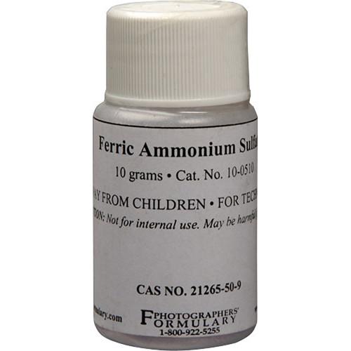 Photographers' Formulary Ferric Ammonium Sulfate - 10 Grams