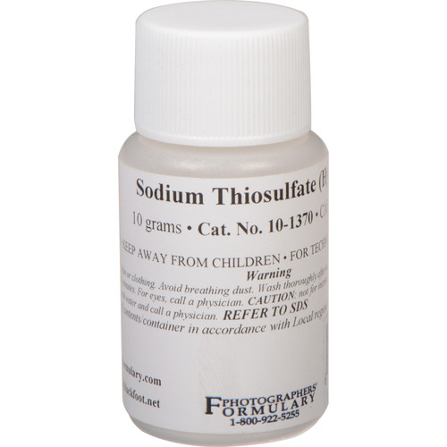 Photographers' Formulary Sodium Thiosulfate, Anhydrous - 10g