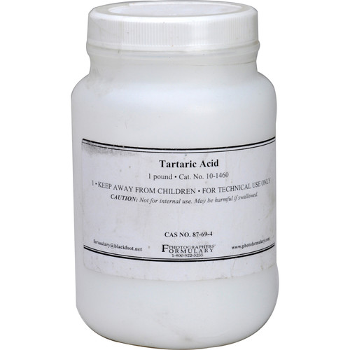 Photographers' Formulary Tartaric Acid - 1 Lb.