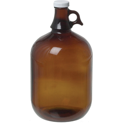 Photographers' Formulary Glass Storage Jug, Amber - 1 Gallon