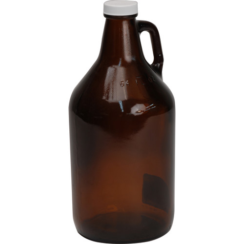 Photographers' Formulary Glass Storage Jug, Amber (1/2 Gallon)