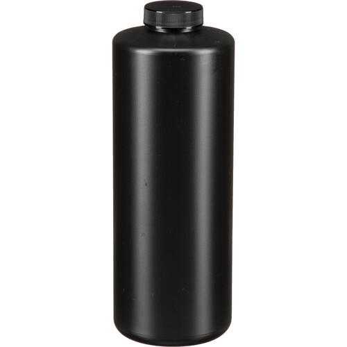 Photographers' Formulary Black Plastic Bottle with Narrow Mouth and Cap - 950ml