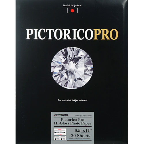 "Pictorico Pro Hi-Gloss Photo Paper (8.5 x 11"" - 20 Sheets)"