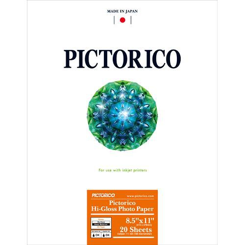 "Pictorico Hi-Gloss Photo Paper (8.5 x 11"", 20 Sheets)"